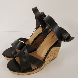 Express Wedge Sandals Black Size 10